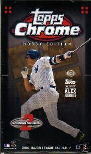 2007 Topps Chrome MLB Baseball 1 Pack NIP 4 Cards New