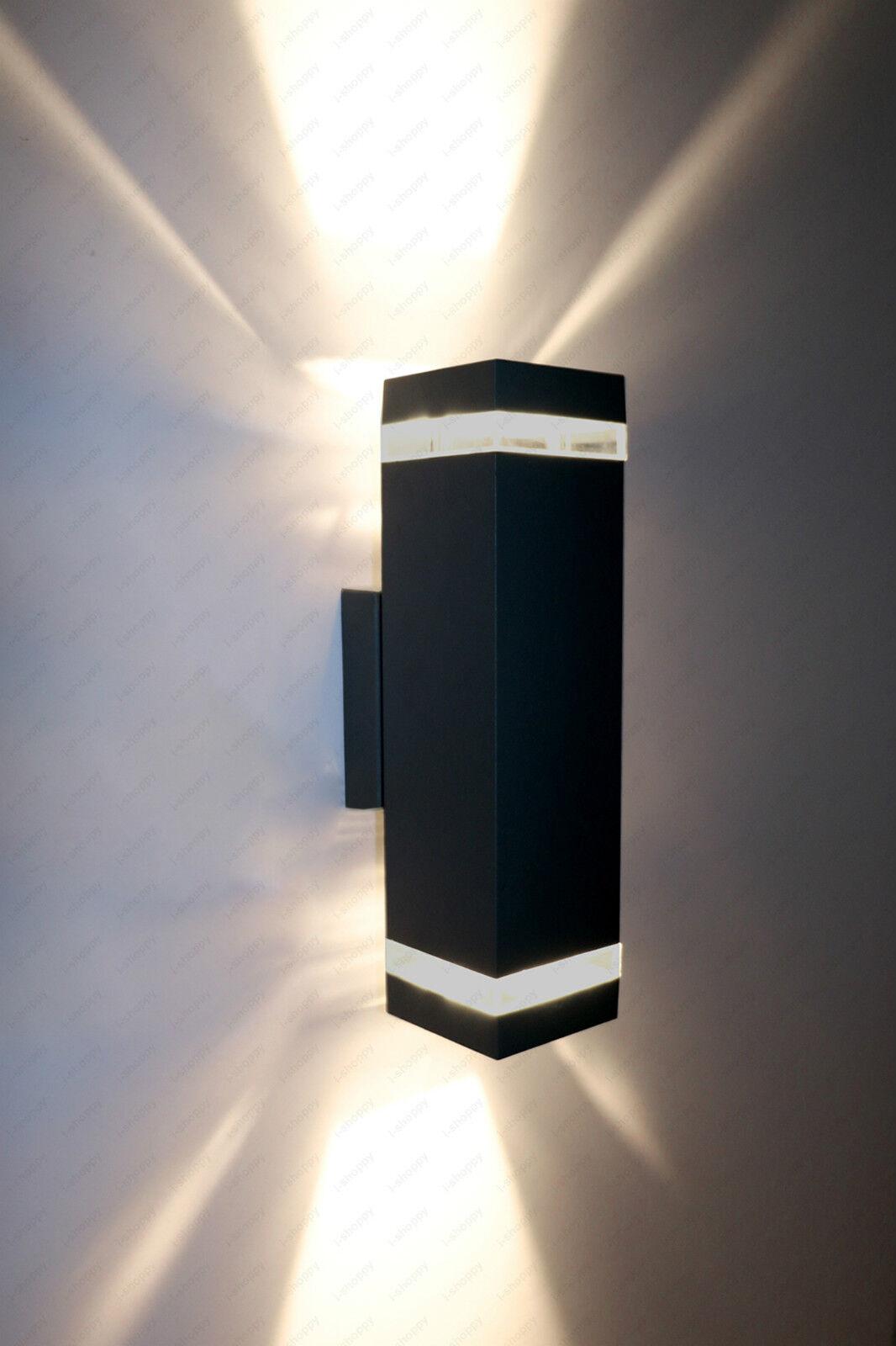 8w 14w Led Exterior súperior inferior Parojo Apliques Lámpara E27 Lámpara Jardín Luz de puerta Luminaria