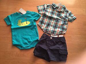 NWT Gymboree Baby Boy/'s Aviator School Reversible Airplane T-Shirt 3-6 Months