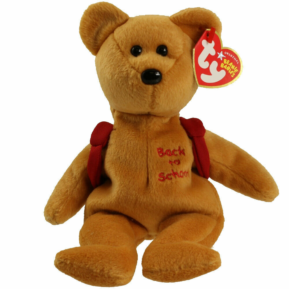 8.5 inch RACER the Nascar Bear - MWMTs TY Beanie Baby Red Version