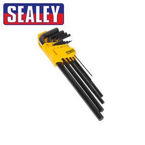 Siegen S0466 Hex Key Set 10pc T-handle Metric
