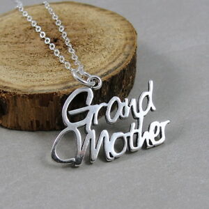 925 Sterling Silver Grandmother Necklace Grandma Charm Jewelry