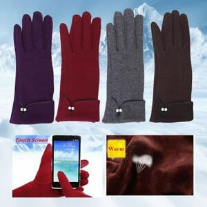 8f1d57ae8 Fashion Winter Warm Thick Soft Touch Screen Fleece Gloves For Women ...