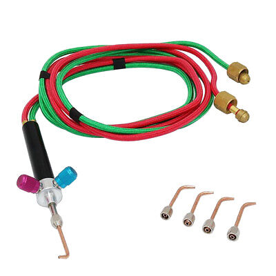 With 5 tips Mini Gas Welding Soldering Torch For Oxygen /& Acetylene