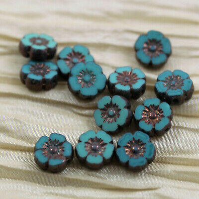 20pcs 12mm  Picasso Flower Wheels Czech glass beads Pick your color
