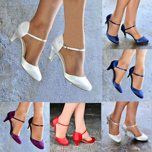 LADIES-PLAIN-SATIN-LOW-KITTEN-HEEL-ANKLE-STRAP-EVENING-PARTY-SHOES-SIZES-3-8