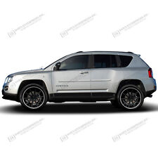 For: JEEP COMPASS; PAINTED Body Side Moldings Mouldings Trim 2007-2017