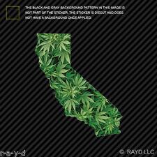California Marijuana Sticker Decal Self Adhesive Vinyl bud cannabis 420