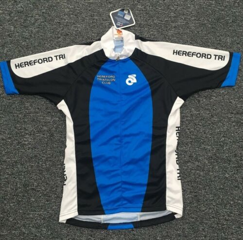 Men/'s Hereford Triathlon CS Tech Short Sleeve Cycling Jersey