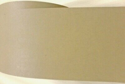 "White High Gloss polyester edgebanding in 1.25/"" x 120/"" preglued adhesive rolls"