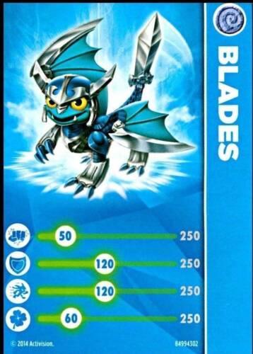 Lames Skylanders Piège équipe Stat carte uniquement!