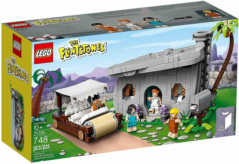 Lego The Flinstones 21316 nuevo para 2019 sellado de fábrica 748 piezas 4 Minifiguras
