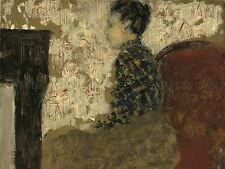 EDOUARD VUILLARD FRENCH WOMAN SITTING FIRESIDE OLD ART PAINTING POSTER BB5233A