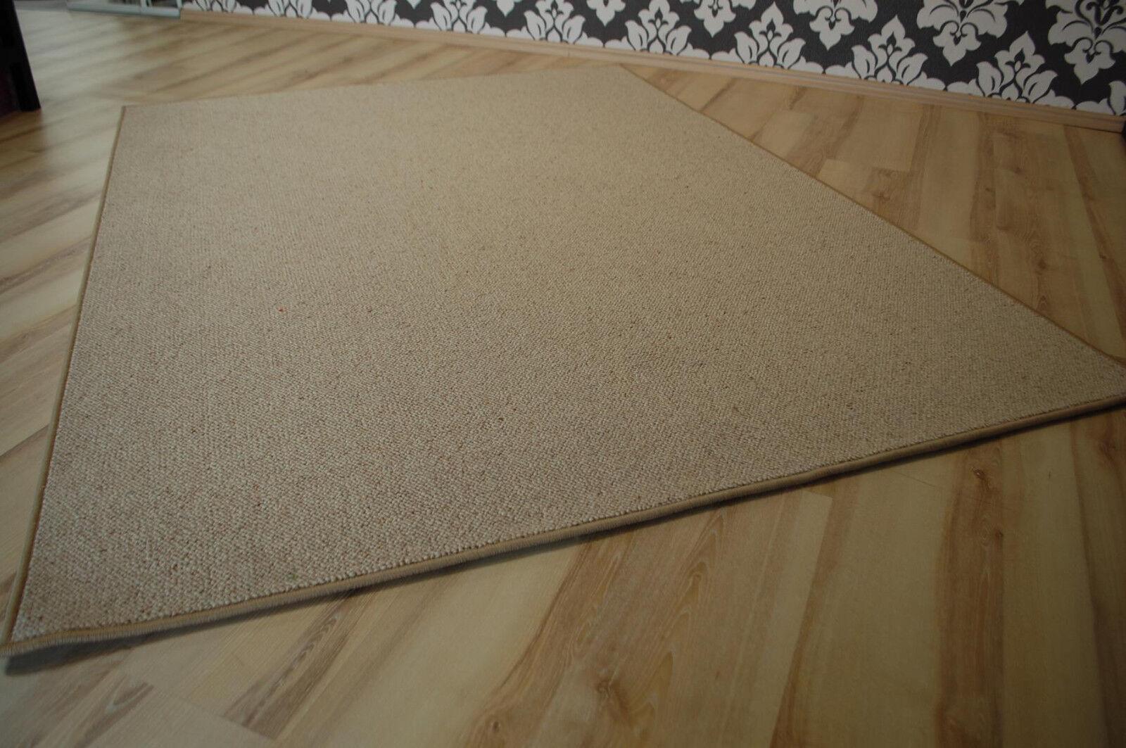 Laine Tapis laine umkettelt Beige 150 x 200 cm 100% laine Tapis gekettelt 54c7da