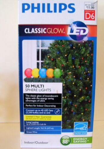 50 LED MULTI SPHERE END TO END INDOOR//OUTDOOR LIGHTS CHRISTMAS DECORATION