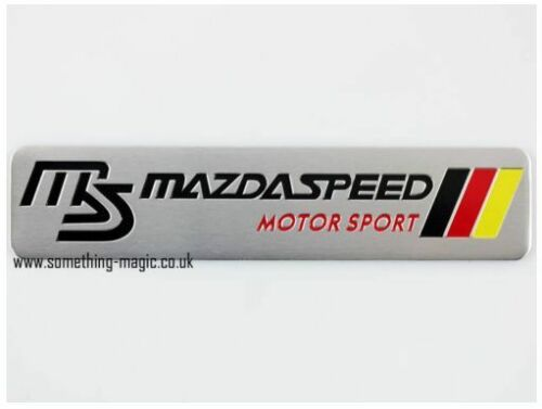 Brushed Aluminium Mazda Speed Motor Sport Car Badge