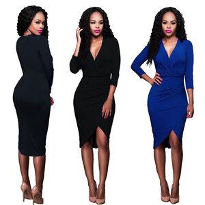 Black bodycon dress long sleeve ebay buying