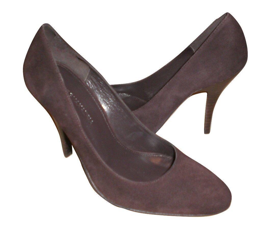migliore marca BCBGMaxAzria pumps suede suede suede leather Marrone sz 10 Med NEW  198 retail  autorizzazione