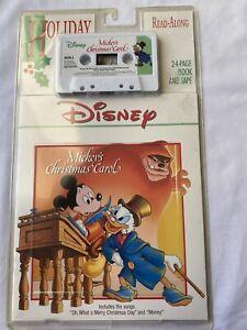 VTG Disney Mickey's Christmas Carol Read Along Book & Cassette NIP SEALED | eBay