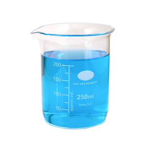 250ml Glass Beaker, Low form with Spout for Laboratory or Measuring Beaker 5055914755640