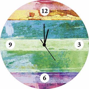 Artland Wanduhr Quarz Uhr Glas Motiv Ø 35 cm Wellness Zen Sand G2VK
