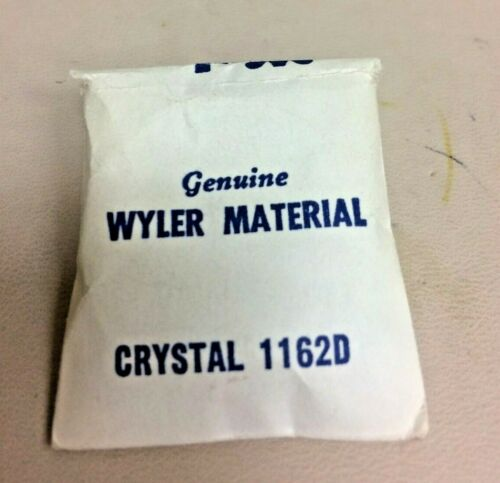 Details about  /        GENUINE WYLER  ACRYLIC CRYSTAL #1162 D