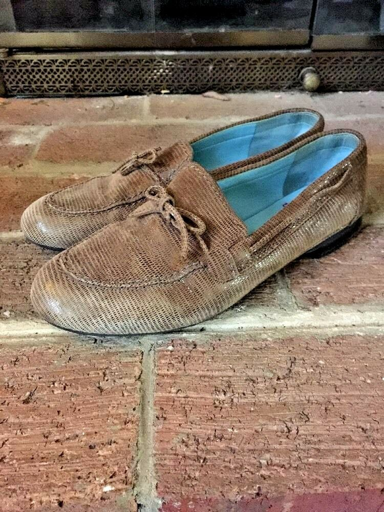 THIERRY RABOTIN LEATHER MOCCASIN MULES Loafers Damenschuhe Schuhe Sz 6.5  Made