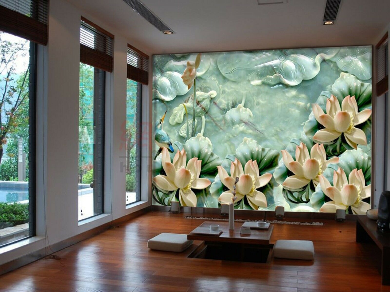 3D Grün lotus leaf 352 Wall Paper Wall Print Decal Wall Indoor Murals Wall US