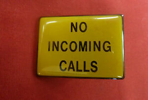 New Yellow No Incoming Calls Sign Payphone Pay Phone Western Electric AT&T GTE
