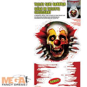 Creepy Carnival Vinyl Toliet Grabber Halloween Fancy Dress Party Decoration Prop