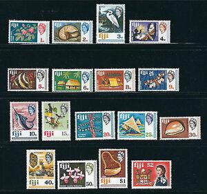 FIJI-1969-QEII-definitives-decimal-currency-Scott-260-76-complete-VF-MNH