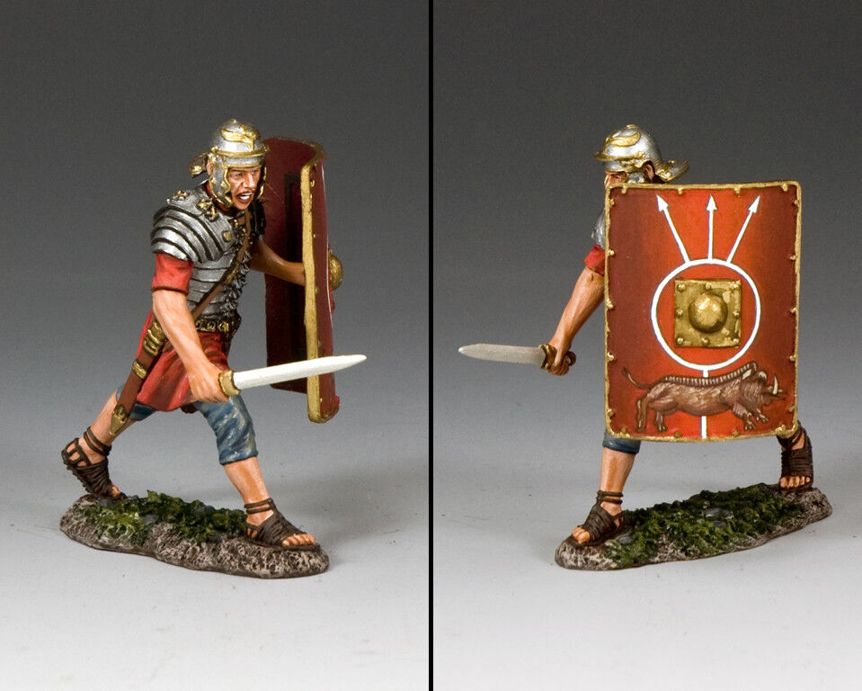 KING AND COUNTRY Romans - Fighting with with Sword (Running) ROM014 Painted Metal