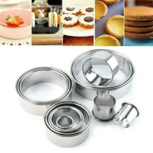 Steel Round Cutting Mold Mould Cookie Biscuit Pastry Baking Cake Cutters