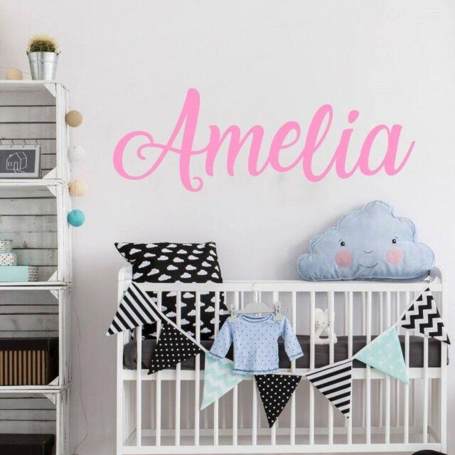 Custom Name Vinyl Decal Wall Art Decor for Nursery Children Girls Baby Room v1