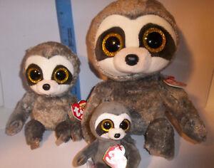a69d9045710 3 pc Lot SET TY Dangler the Sloth 2018 BEANIE BOOS buddy M sz   Reg ...