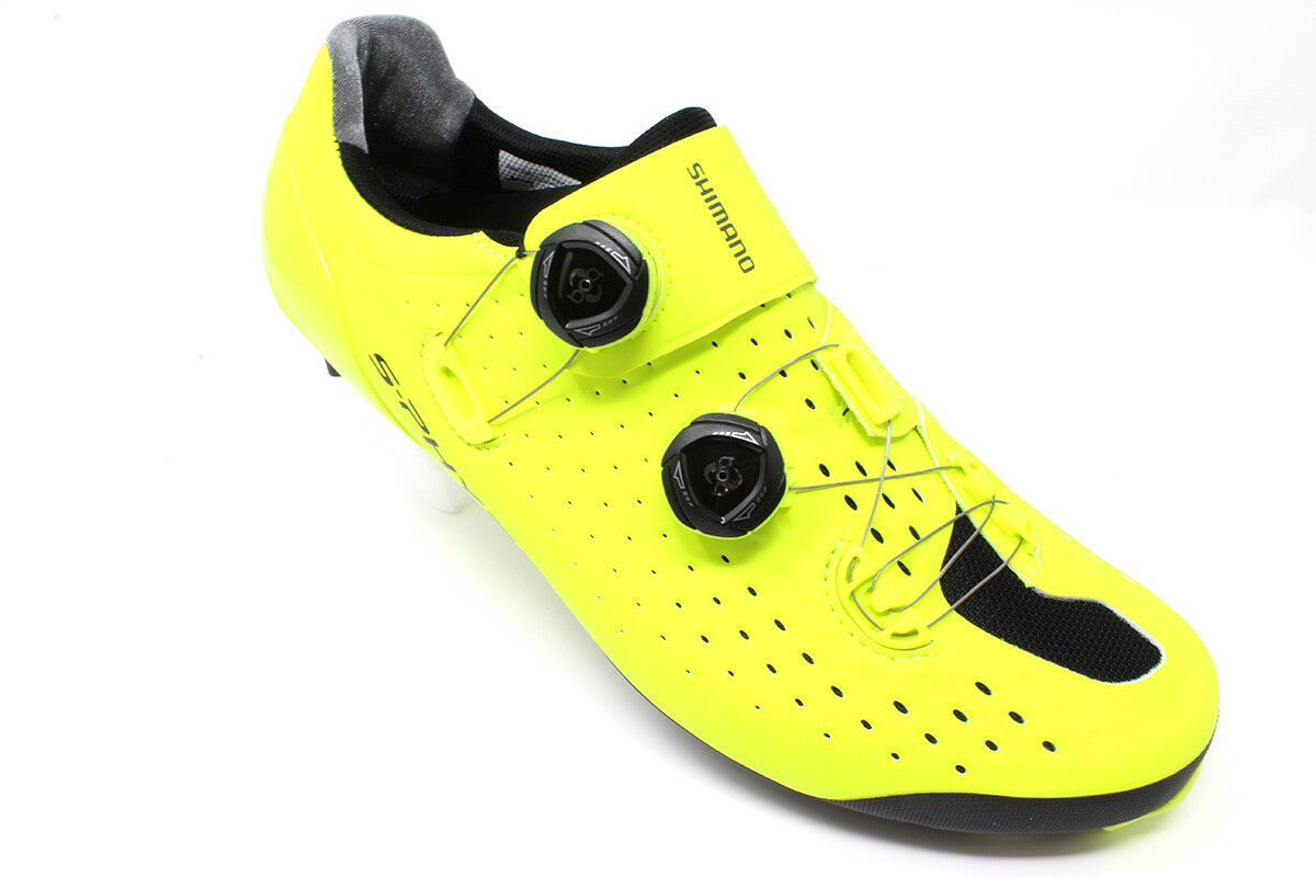 BRAND NEW Shimano S-Phyre XC9 Yellow Mountain Bike shoes - Size 10.5 45