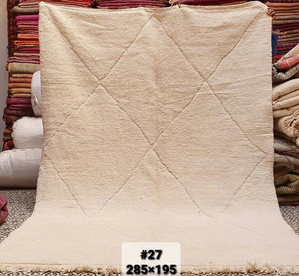 BENI OUARAIN Uld tæppe håndvævet marokkansk tæp...