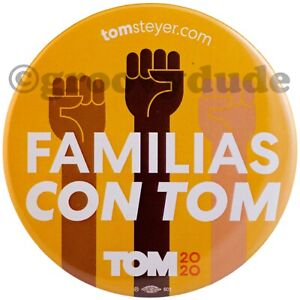 TOM STEYER Official Button Pin Pin-back Democrat President Candidate 2020
