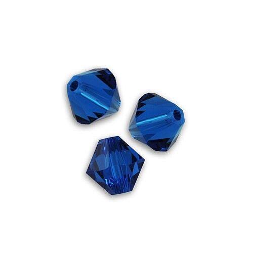20 toupies 3mm capri blue cristal de swarovski.