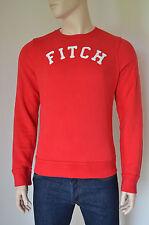 NEW Abercrombie & Fitch Mount Colvin Classic Crew Neck Sweatshirt Red S