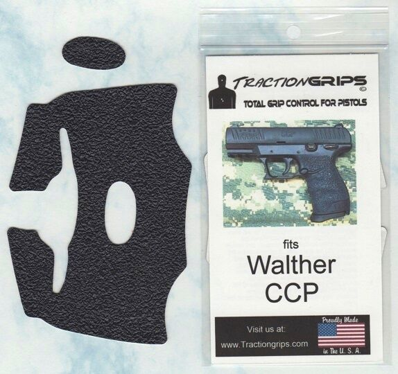 Tractiongrips BRAND Grips for Walther CCP Pistols / Black Rubber Pistol  Grip Set