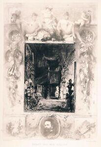 WILLIAM-UNGER-HANS-MAKART-und-sein-Atelier-Original-Radierung-1887