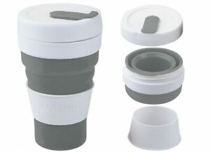 Cumbre-mybento-Grande-Pop-450ml-Plegable-Taza-de-Cafe-de-Viaje-Plegable-Negro