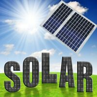 10w 20w 50w Poly Solar Panel Module 12v Battery Charger Off Grid, Rv, Boat, Gate