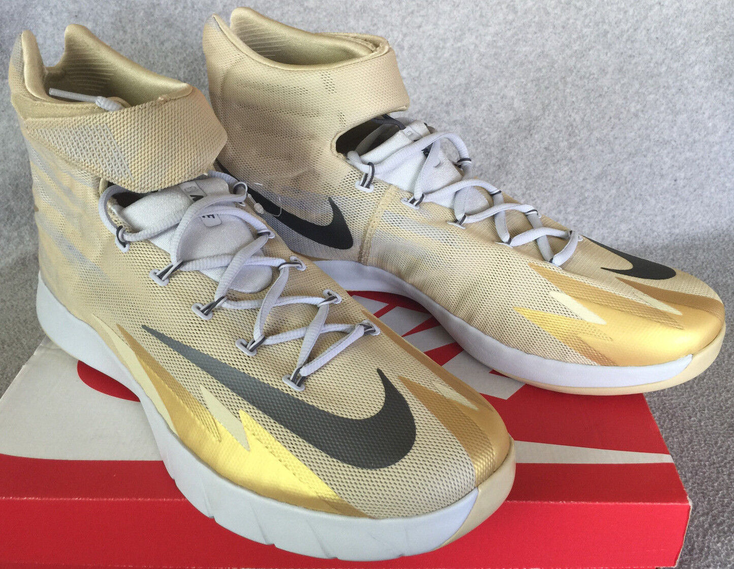 Nike Zoom Hyperrev 16 Erving 643301-703 Gold Basketball chaussures homme 16 Hyperrev NBA new a29785