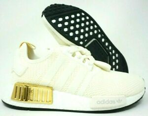 Adidas Nmd R1 Womens Running Shoes Off White Gold Ee5174 Multi