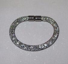 Silver Made wit Swarovski Element Stardust Crysta Bracelet Choker Magnetic Clasp