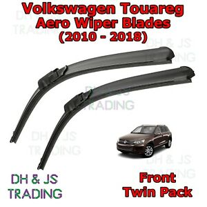 10-18-Volkswagen-Touareg-Aero-Wiper-Blades-Limpiador-de-hoja-plana-Delantero-VW