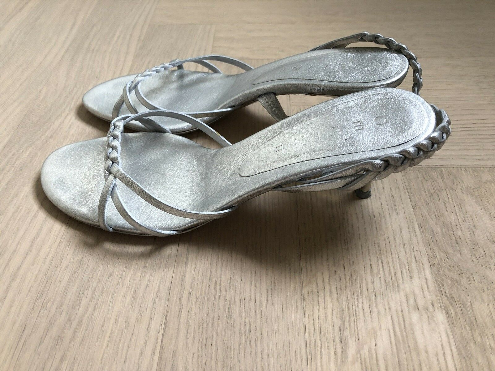 Celine  Sandalen  Silber  37,5 wie neu  Klassiker  Jades