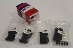 Lot-of-4-NEW-Amp-D25BSP-748067-1-25-Position-BackShell-Cable-Clamp-Kit